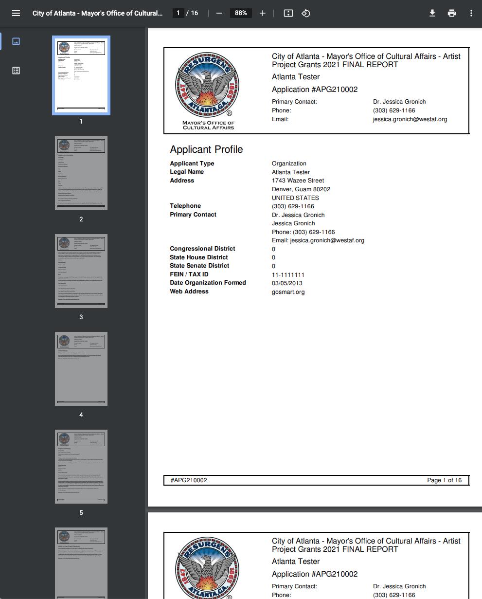 Screenshot of PDF preview from Atlanta